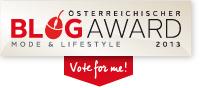 Meine Seite beim OTTO Blog Award