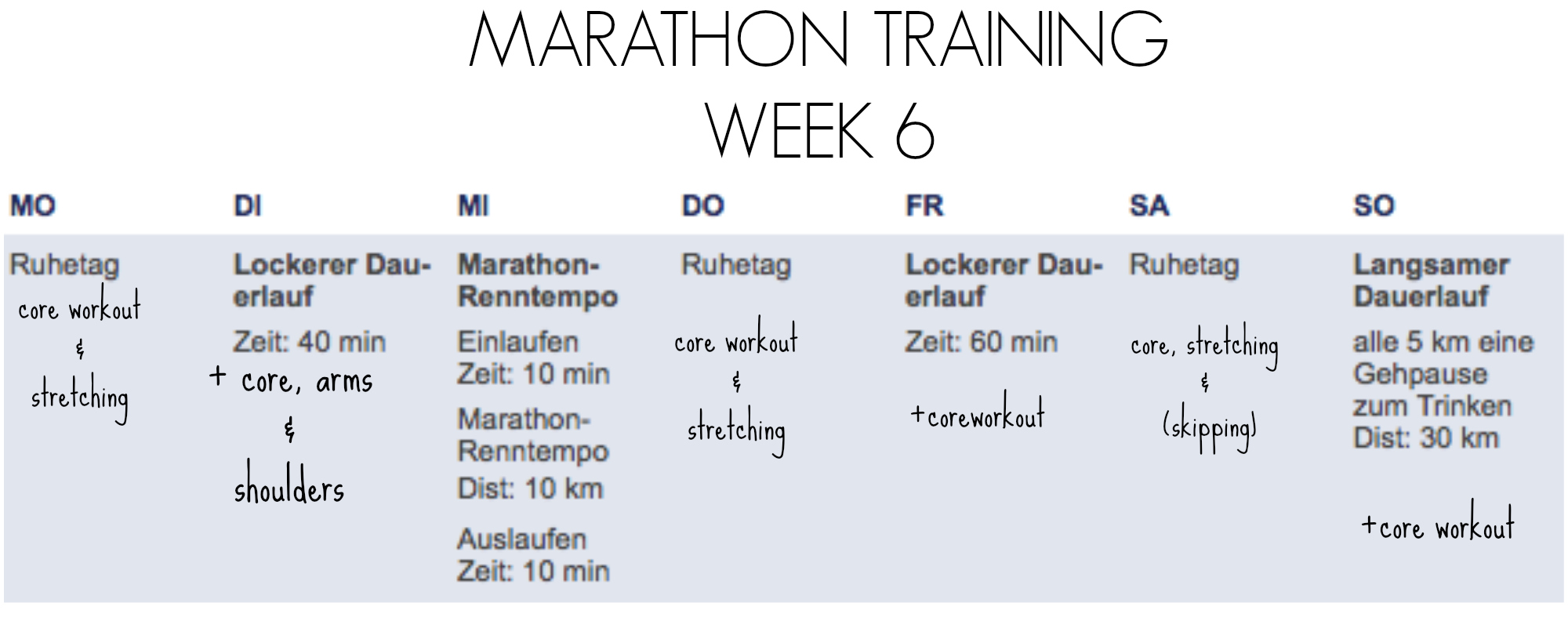 marathon week 6