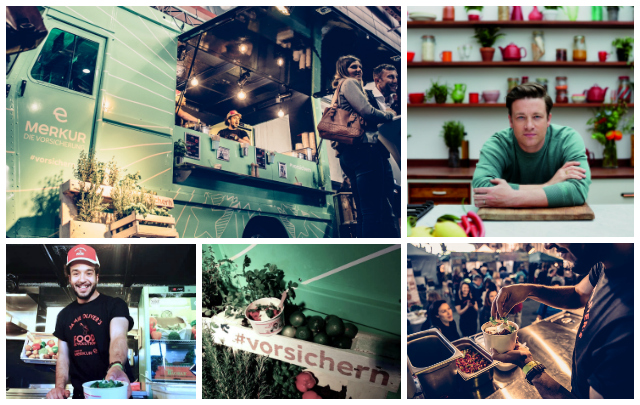 merkur food truck collage